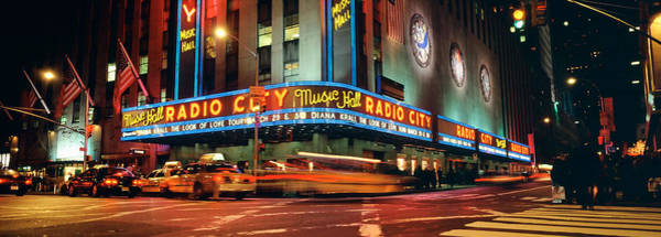 After Dark Photograph - Manhattan, Radio City Music Hall, Nyc by Panoramic Images