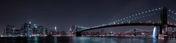 Wall Art - Photograph - Manhattan Skyline And Brooklyn Bridge by Fabien Bravin