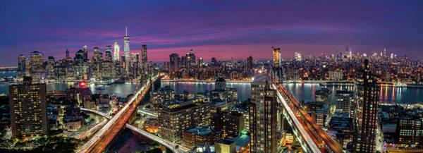 Skyline Wall Art - Photograph - Manhattan Skyline During Beautiful Sunset by Thomas D M?rkeberg