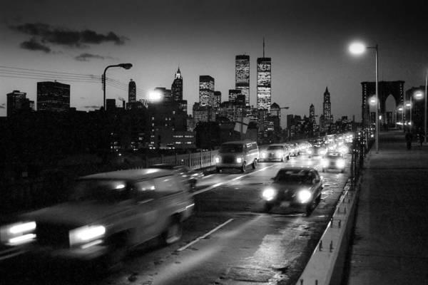 Photograph - Manhattan Skyline Dusk 1980s by Gary Eason