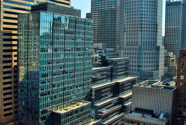 Blade Runner Photograph - Manhattan Skyscrapers Labyrinth by New York
