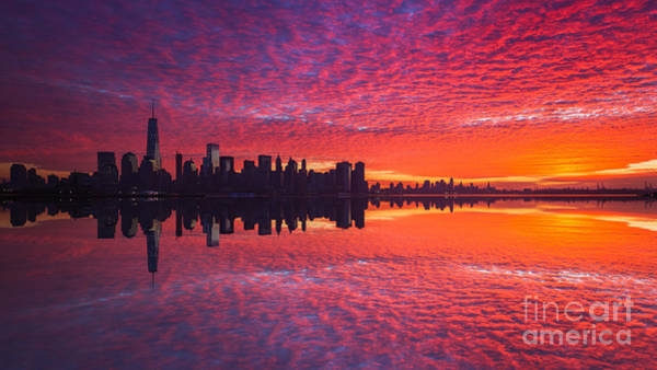 Lower Manhattan Photograph - Manhattan Sunrise Version 2  by Michael Ver Sprill