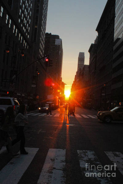 Photograph - Manhattan Sunset by Gregory Dyer