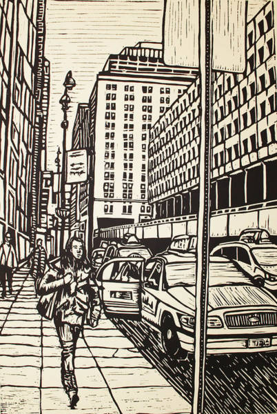 Drawing - Manhattan by William Cauthern