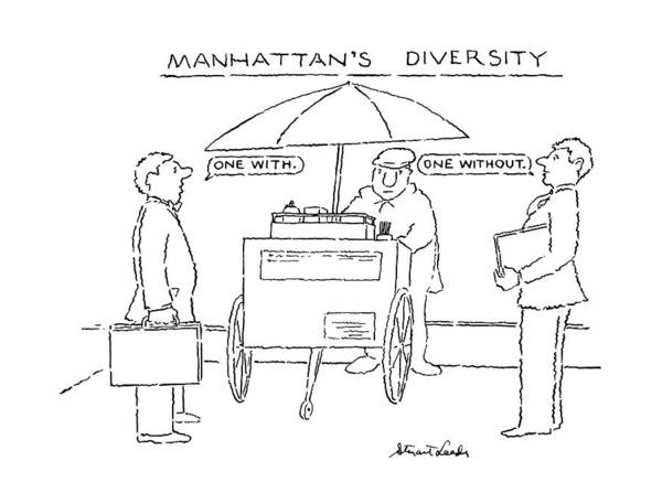 Diversity Wall Art - Drawing - Manhattan's Diversity by Stuart Leeds