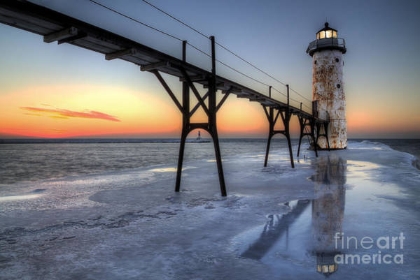 Manistee Photograph - Manistee North Pierhead Lighthouse by Twenty Two North Photography