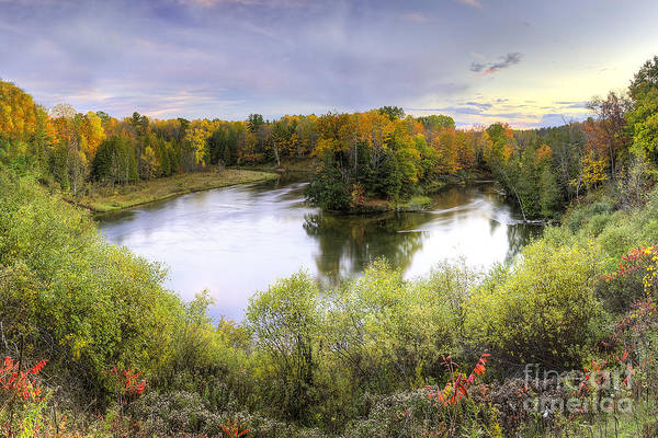 Manistee Photograph - Manistee River In Fall by Twenty Two North Photography