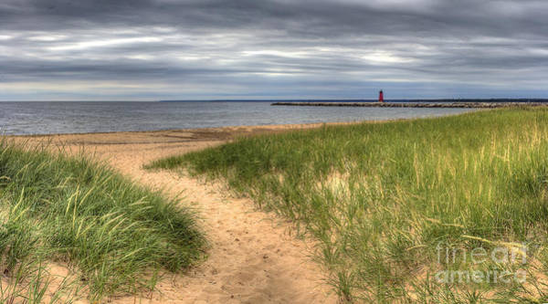 Upper Peninsula Wall Art - Photograph - Manistique Beach And Lighthouse by Twenty Two North Photography