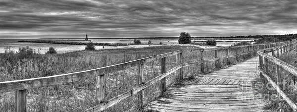 Upper Peninsula Wall Art - Photograph - Manistique Beach Pier And Lighthouse by Twenty Two North Photography