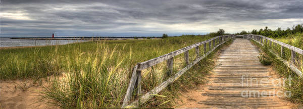 Wall Art - Photograph - Manistique Boardwalk And Beach by Twenty Two North Photography