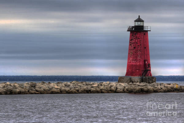 Two Harbors Photograph - Manistique Lighthouse by Twenty Two North Photography