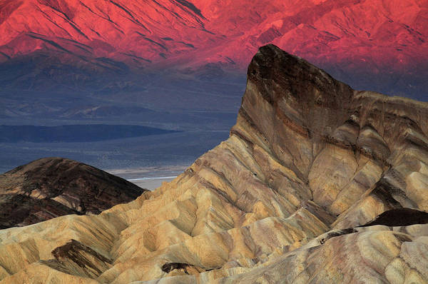 Furnace Creek Photograph - Manly Beacon At Dawn, Zabriskie Point by Michel Hersen