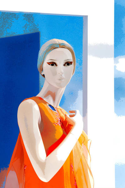 Dress Form Photograph - Mannequin In Orange  by Art Block Collections