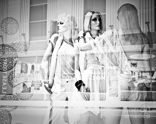 Neiman Photograph - Mannequins In White by Sonja Quintero