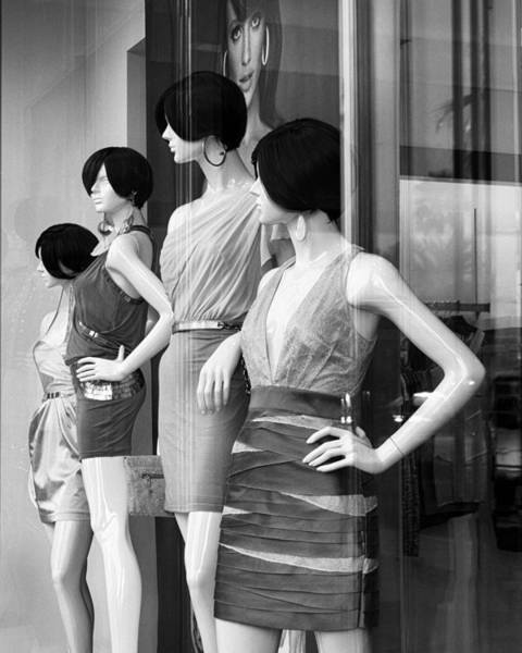Window Dressing Wall Art - Photograph - Mannequins Palm Desert by William Dey