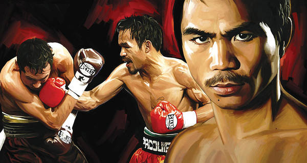 Boxing Painting - Manny Pacquiao Artwork 2 by Sheraz A