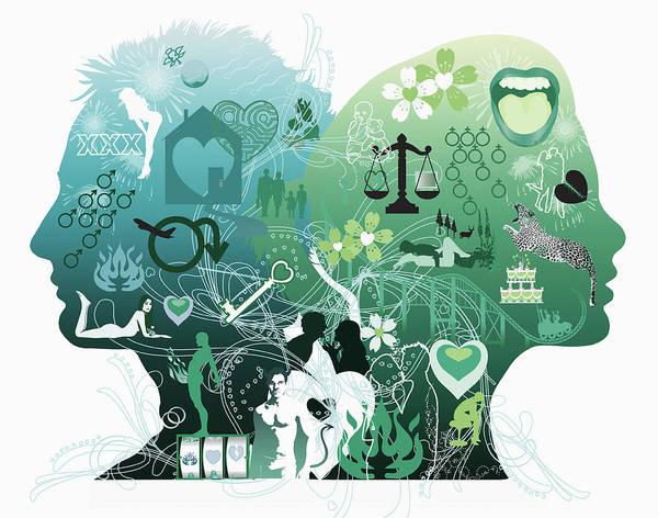 Phantasy Wall Art - Photograph - Mans And Womans Profile by Ikon Ikon Images