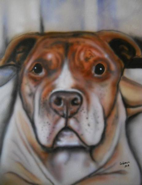 English Bulldog Painting - Man's Best Friend Can See Your Soul by Scott Whitter