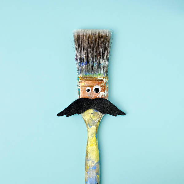 Animal Head Photograph - Mans Face Crafted Onto Paintbrush by Juj Winn