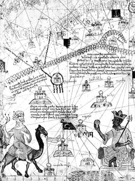 Camel Rider Painting - Mansa Musa (1312-1337) by Granger