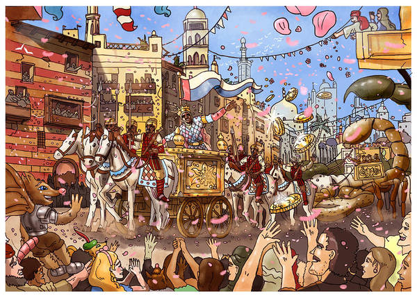 Painting - Mansa Musa Enters Mecca by Reynold Jay
