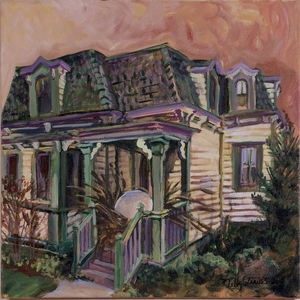 Painting - Mansard House With Nest Egg by Tilly Strauss