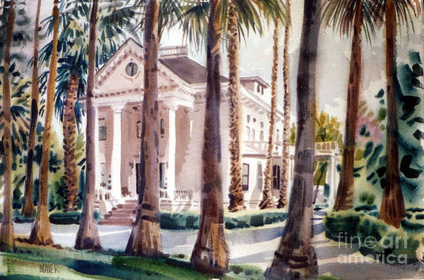 Residences Wall Art - Painting - Mansion In Palo Alto by Donald Maier