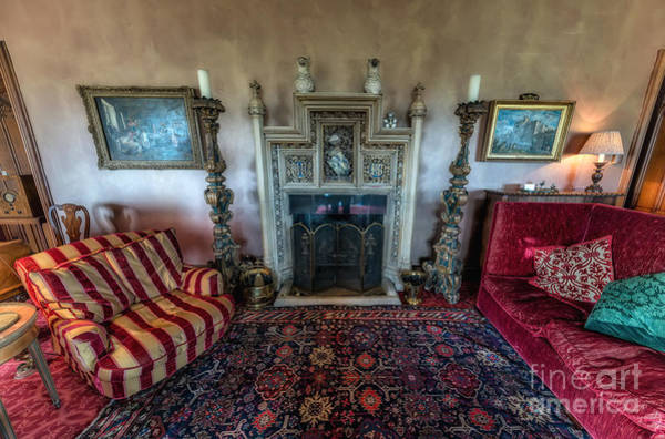 Fire Place Photograph - Mansion Sitting Room by Adrian Evans