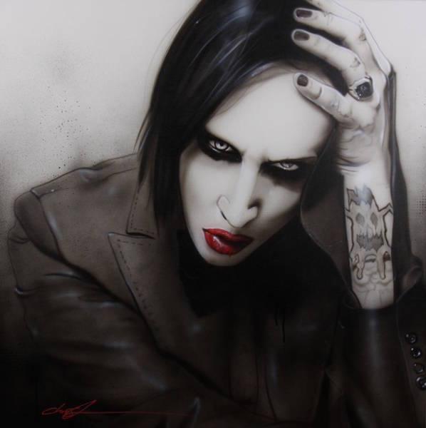 Goth Painting - Manson II by Christian Chapman Art