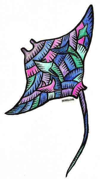 Painting - Manta Ray 2009 by Marconi Calindas
