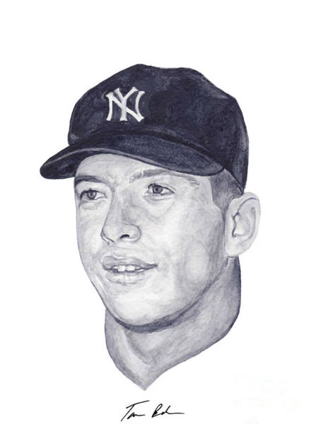 Mickey Mantle Wall Art - Painting - Mantle by Tamir Barkan