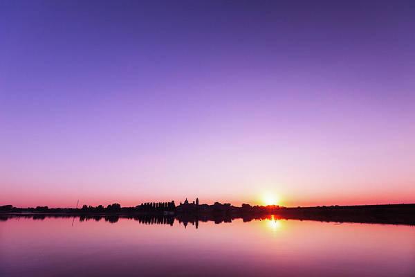 Palace Pier Wall Art - Photograph - Mantua Sunset by Deimagine