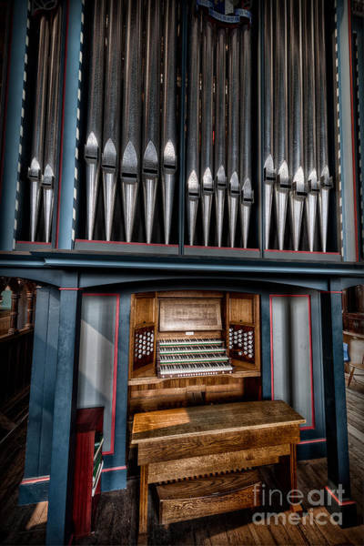 Wall Art - Photograph - Manual Pipe Organ by Adrian Evans