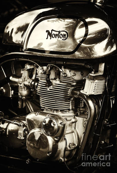 Photograph - Manx Norton Sepia by Tim Gainey
