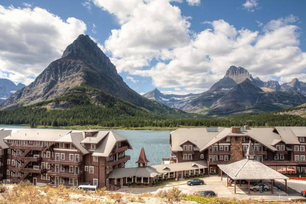 Photograph - Many Glacier Hotel by John M Bailey