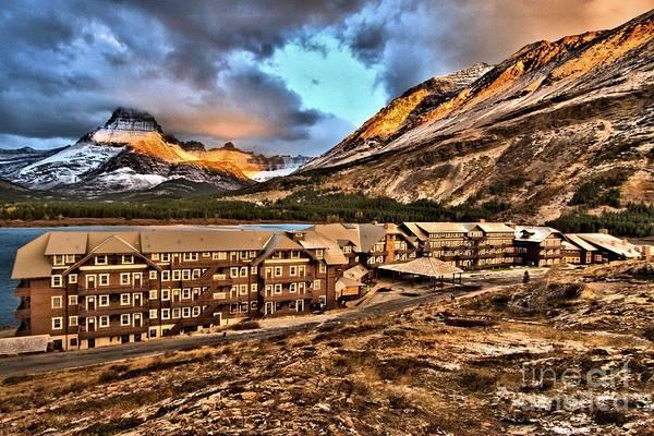 Photograph - Many Glacier Sunrise by Adam Jewell