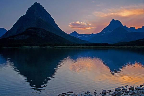 Photograph - Many Glacier Sunset by Darlene Bushue