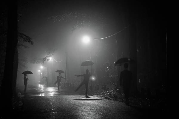 Rainy Photograph - Many Myself by Takashi Suzuki