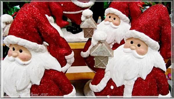 Photograph - Many Santas With Lanterns by Danielle  Parent