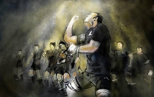 Wall Art - Painting - Maori Haka by Miki De Goodaboom