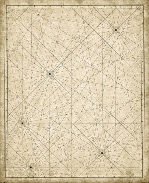 Map Grid Art Print by Tyndyra