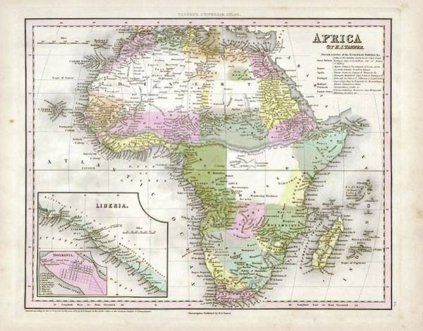 Channel Isles Photograph - Map Of Africa by Library Of Congress, Geography And Map Division