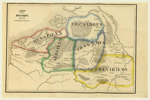 Wall Art - Drawing - Map Of Belgium, Voyage Dans La Russie Meridionale Et La by Litz Collection