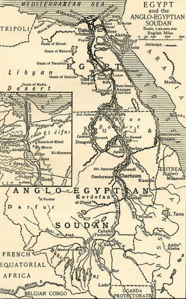 Map Of Egypt Art Print