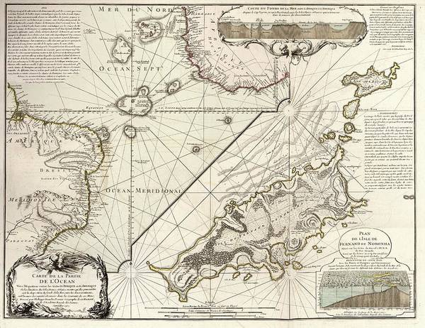Physique Photograph - Map Of Fernando De Noronha by Library Of Congress, Geography And Map Division
