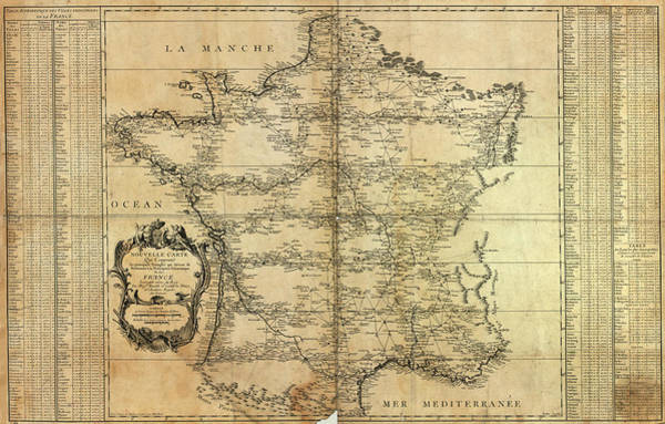 Wall Art - Photograph - Map Of France by Library Of Congress, Geography And Map Division/ Science Photo Library