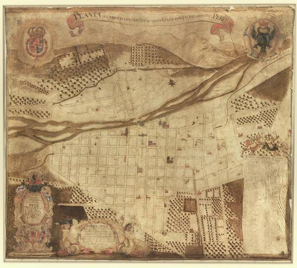 Holy City Photograph - Map Of Lima by Library Of Congress, Geography And Map Division