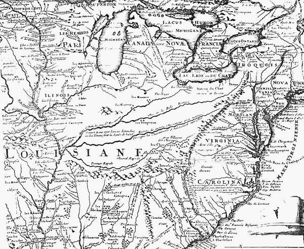 Louisiana Purchase Painting - Map Of Louisiana Territory by Granger
