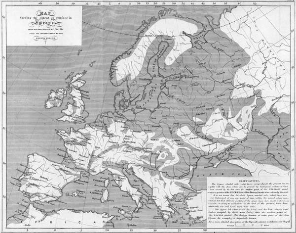 Recent Photograph - Map Of Marine Deposits In Europe by Royal Institution Of Great Britain / Science Photo Library