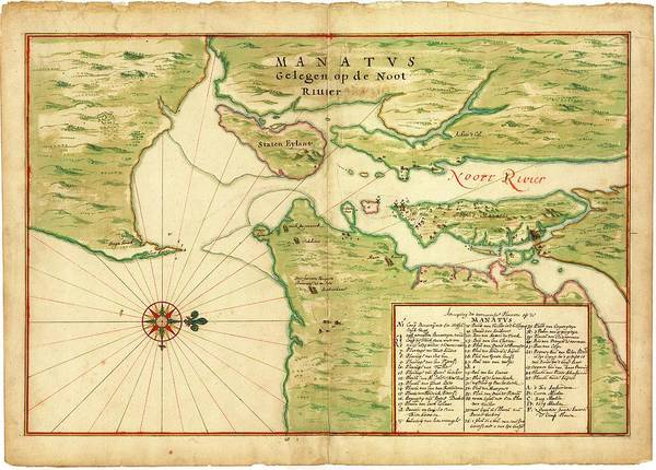 Index Photograph - Map Of New York Bay by Library Of Congress, Geography And Map Division